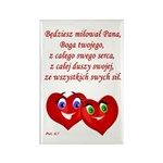 Polish Heartsfor God Rectangle Magnet