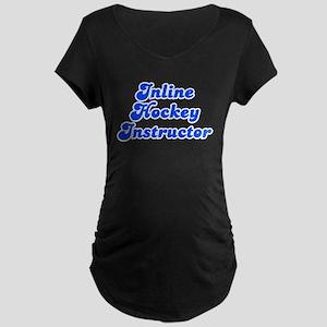 Retro Inline Hock.. (Blue) Maternity Dark T-Shirt