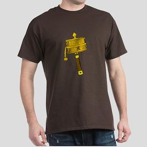 Tibetan Prayer Wheel Dark T-Shirt