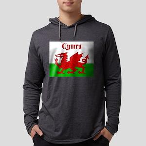 Cymru Wales Baner Long Sleeve T-Shirt
