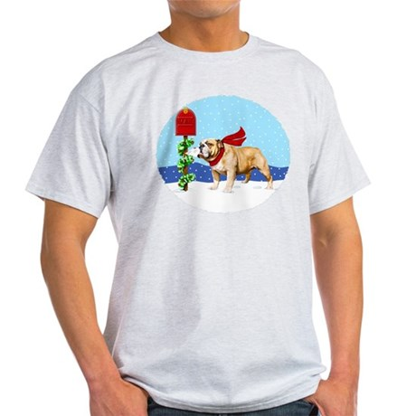 Christmas Bulldog Mail Light T-Shirt