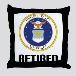 U.S. Air Force Retired Throw Pillow