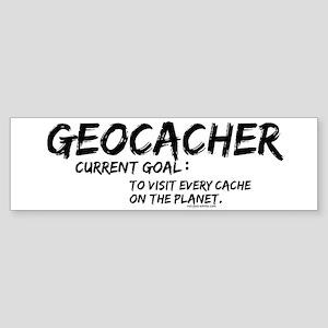 Geocacher Goals Bumper Sticker