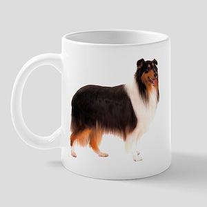 Black Rough Collie Mug