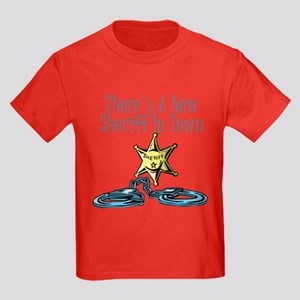 New Sheriff in town Kids Dark T-Shirt
