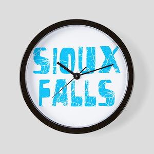 Sioux Falls Faded (Blue) Wall Clock