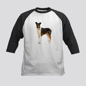 Smooth Collie Dog Lover Kids Baseball Jersey