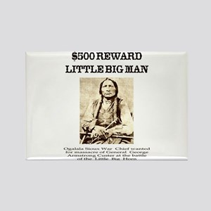 Little Big Man Wanted Rectangle Magnet