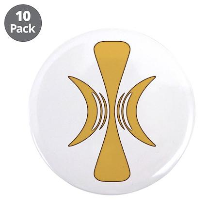 """Golden Hand of Eris 3.5"""" Button (10 pack)"""