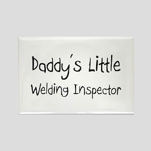Daddy's Little Welding Inspector Rectangle Magnet