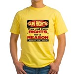 Rights for a Reason Yellow T-Shirt