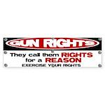 Rights for a Reason Bumper Sticker (10 pk)