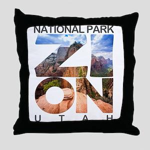 Zion - Utah Throw Pillow