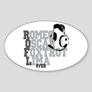 ROFL Pilot Humor Sticker (Oval)
