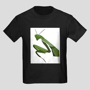Praying Mantis (Front only) Kids Dark T-Shirt