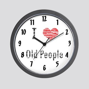 I love Old People Wall Clock