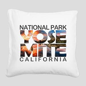 Yosemite - California Square Canvas Pillow