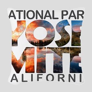 Yosemite - California Woven Throw Pillow