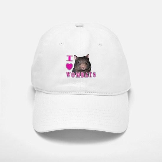 I Love ( Heart ) Wombats Baseball Baseball Cap