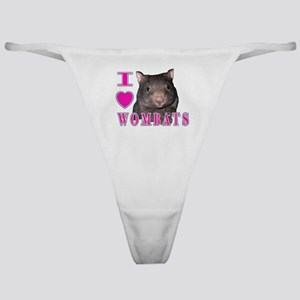 I Love ( Heart ) Wombats Classic Thong