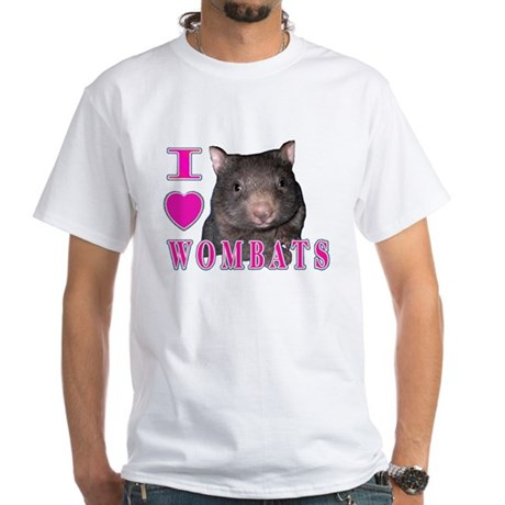 I Love ( Heart ) Wombats White T-Shirt