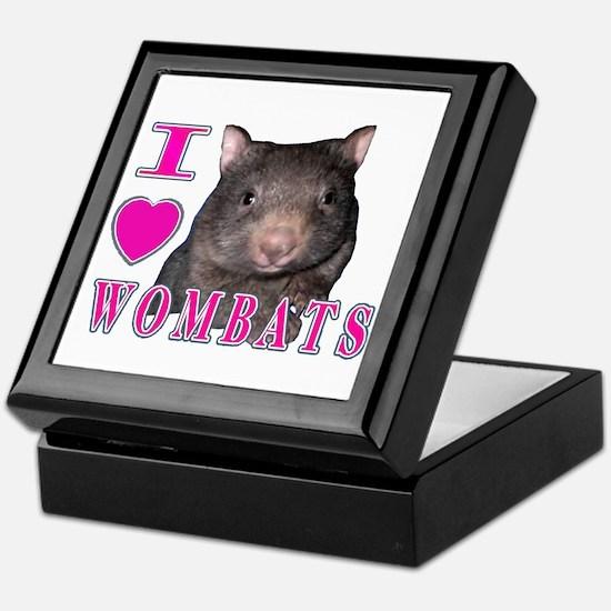 I Love ( Heart ) Wombats Keepsake Box