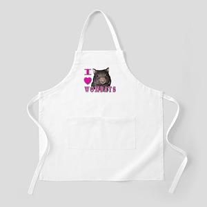 I Love ( Heart ) Wombats BBQ Apron