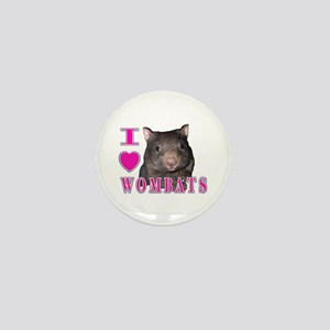 I Love ( Heart ) Wombats Mini Button