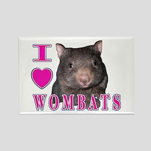 I Love ( Heart ) Wombats Rectangle Magnet