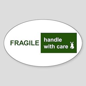 fragile Oval Sticker