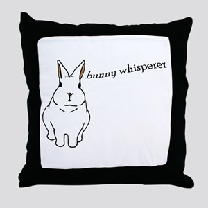 bunny whisperer Throw Pillow