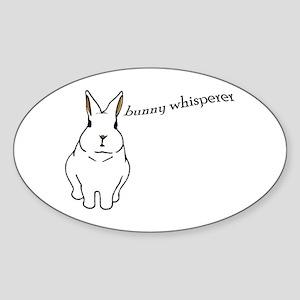 bunny whisperer Oval Sticker
