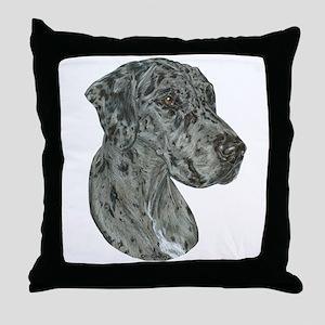 Merle Dog Throw Pillow