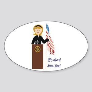 Election Equality! Hillary Oval Sticker