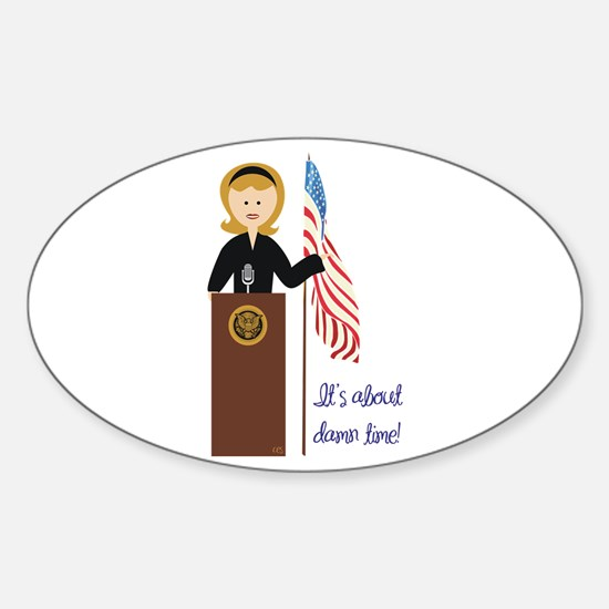 Election Equality! Hillary Oval Decal