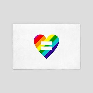 Rainbow love equals love 4' x 6' Rug