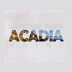 Acadia - Maine Throw Blanket