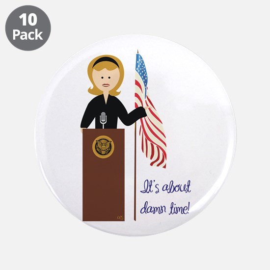 "Election Equality! Hillary 3.5"" Button (10 pack)"