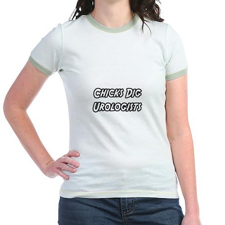 """""""Chicks Dig Urologists"""" Jr. Ringer T-Shirt"""