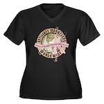 AMGB BCA Logo Women's Plus Size V-Neck Dark T-Shir