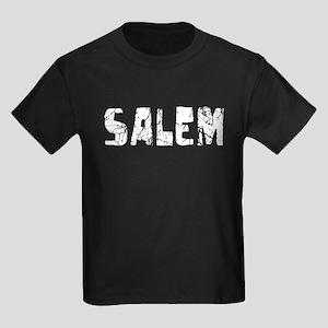 Salem Faded (Silver) Kids Dark T-Shirt