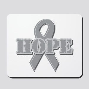 Silver Hope Ribbon Mousepad