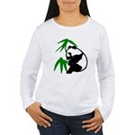 Single Panda Women's Long Sleeve T-Shirt