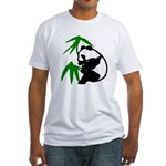 Single Panda Fitted T-Shirt