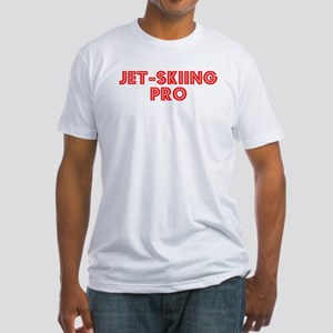 Retro Jet-skiing .. (Red) Fitted T-Shirt
