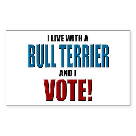 Bull Terrier Vote Rectangle Sticker