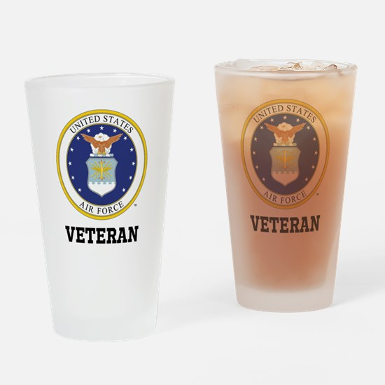 Personalized Air Force Veteran Drinking Glass