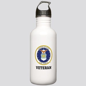 Personalized Air Force Veteran Water Bottle