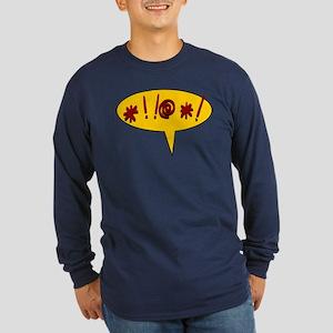 Curses! Long Sleeve Dark T-Shirt