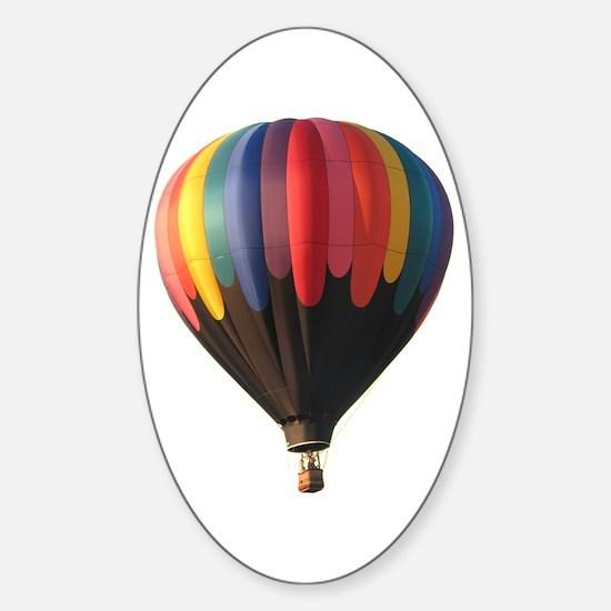 Helaine's Hot Air Balloon 1 Oval Decal